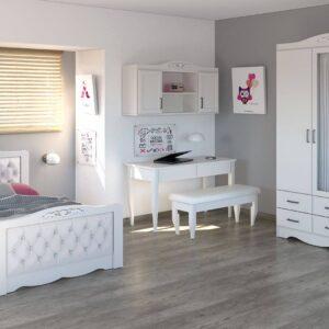 חדר ילדים קומפלט בהיר ואלגנטי